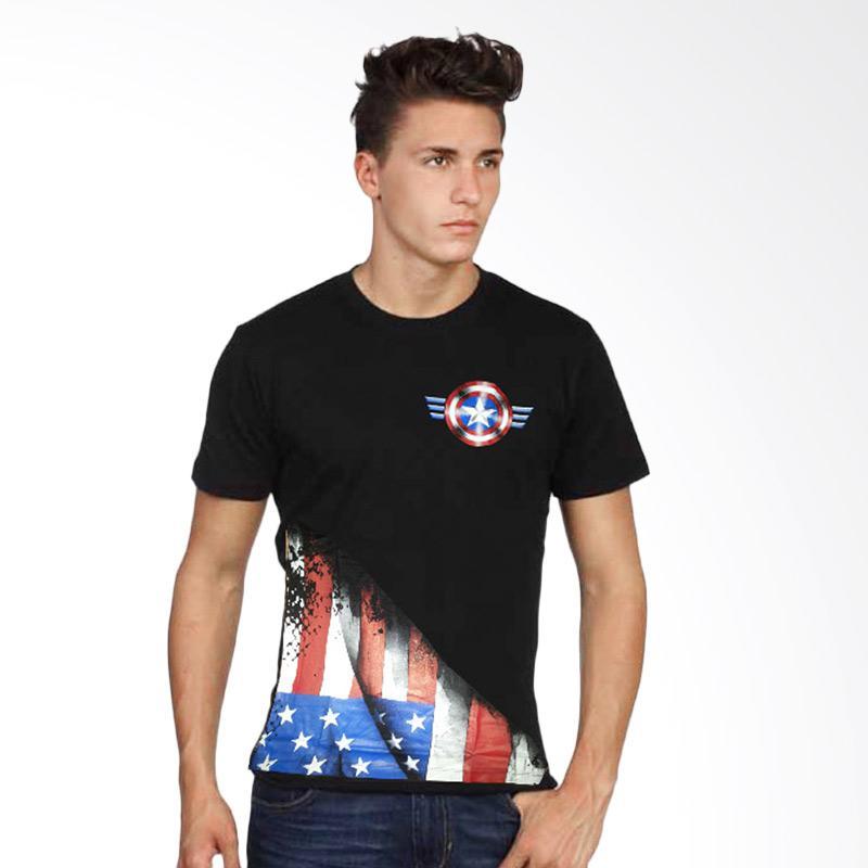 Fantasia Neo Captain America T-Shirt Pria - Hitam Extra diskon 7% setiap hari Extra diskon 5% setiap hari Citibank – lebih hemat 10%