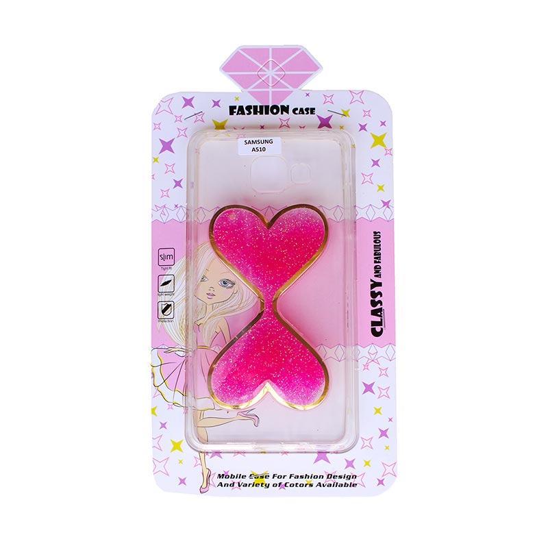 Fashion Case Gliter Love Casing for Samsung A510 - Pink
