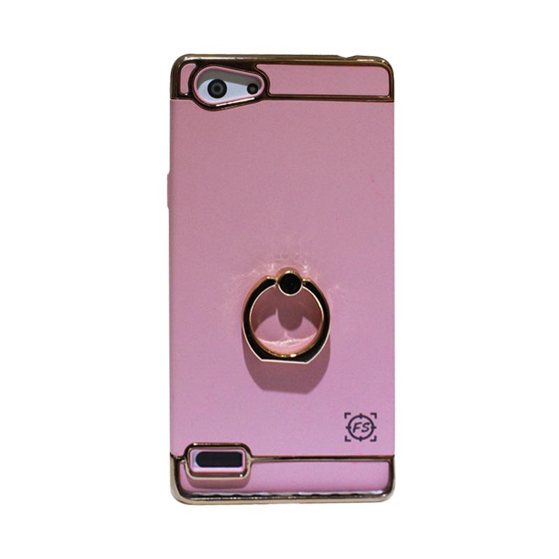 ... Fashion Selular 3 In 1 Hardcase with Casing Ring for Oppo Neo 7 Pink