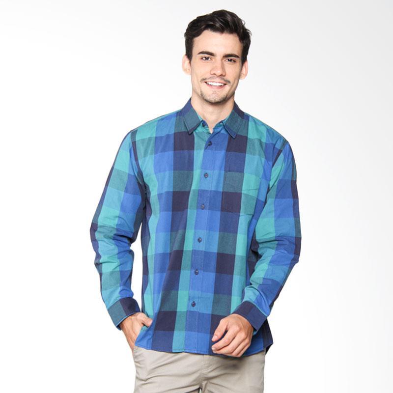 Hammer Shirt Y/D Kemeja Pria - Dark Blue H. Blue D1SY442B2