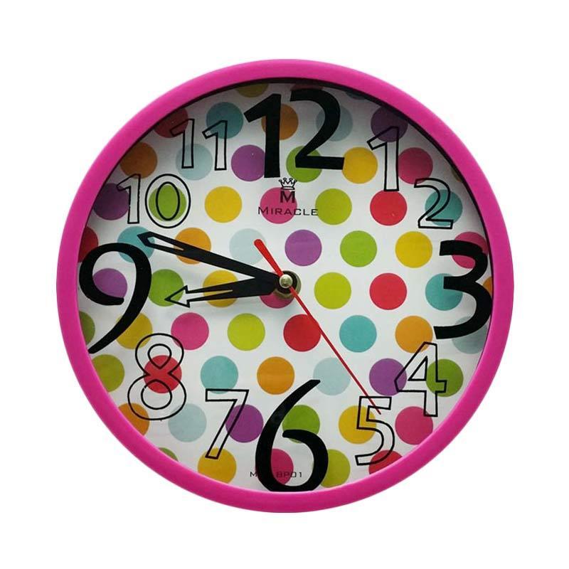 Miracle BP01 Dottie Permen Color Jam Dinding - Pink