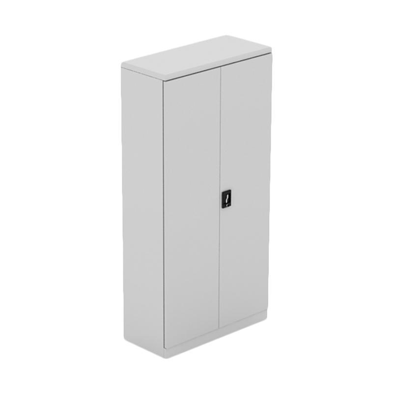 Prissilia Bane Steel Cabinet 2 Big Doors Grey