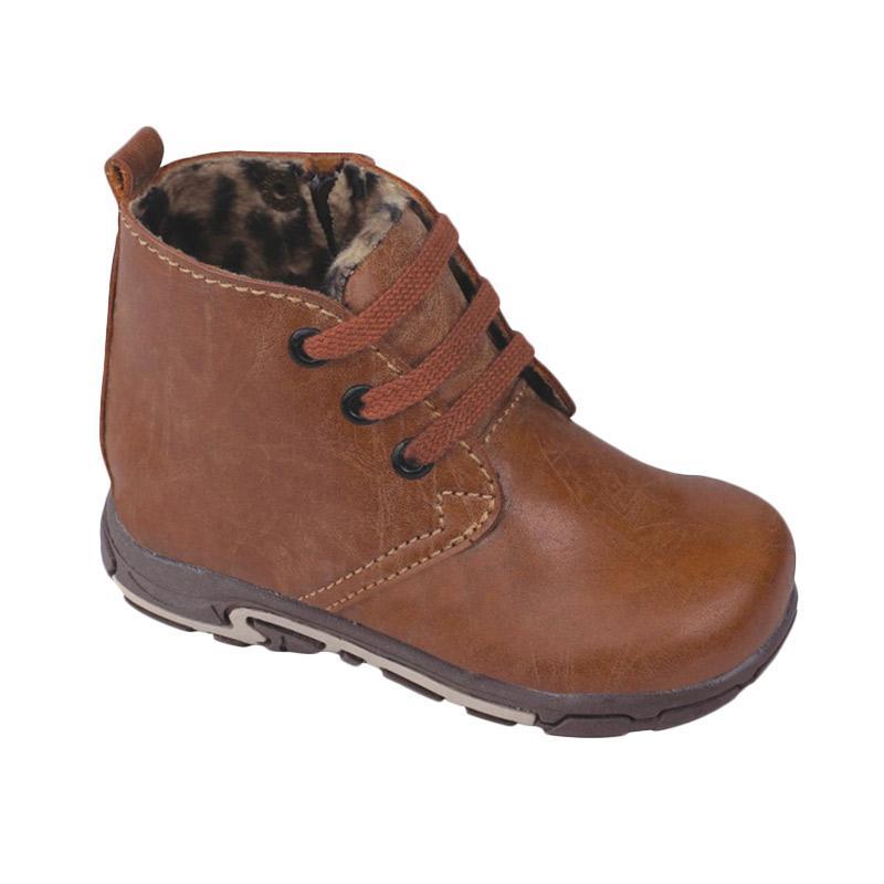 harga Syaqinah 91 Sepatu Boots Anak Laki-Laki - Coklat Blibli.com
