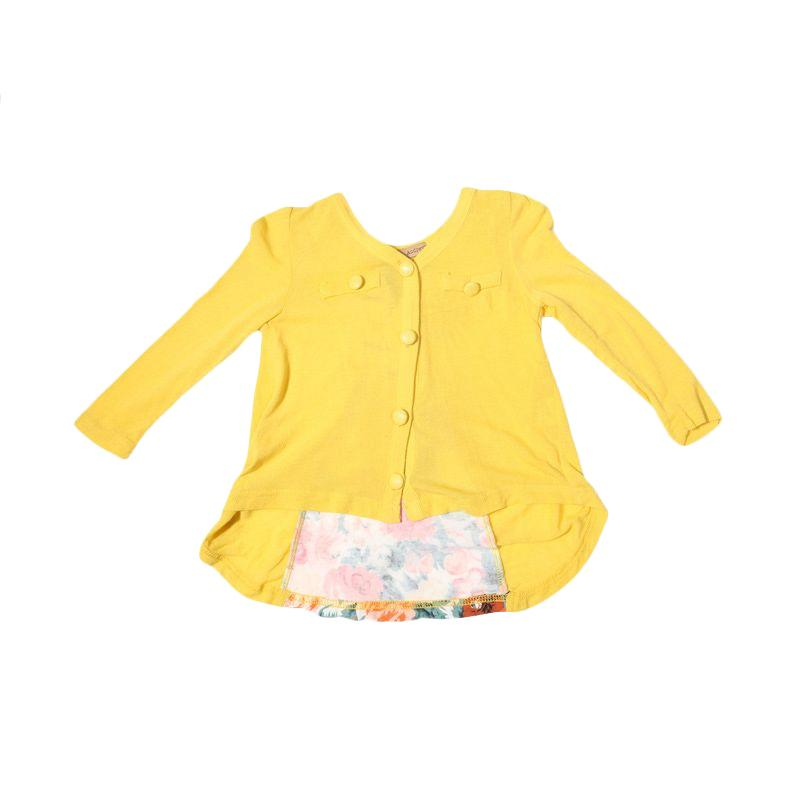 Adel & Audrey Longsleeve 147 Dress Anak - Yellow