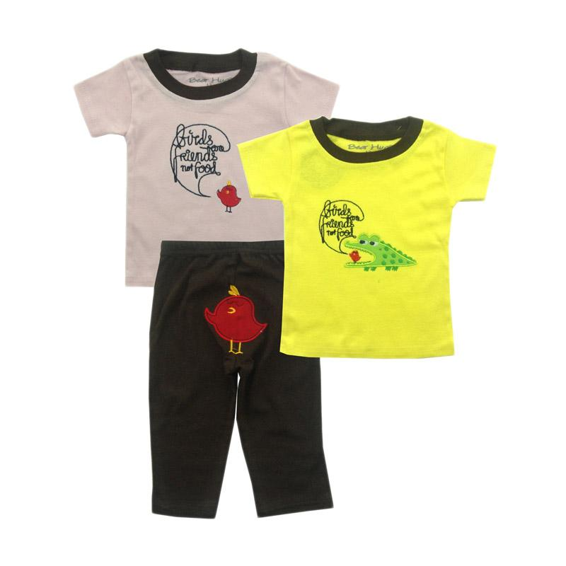 Bearhug for Baby Boy or Girl Croco-Bird Set Pakaian Anak [3 pcs]