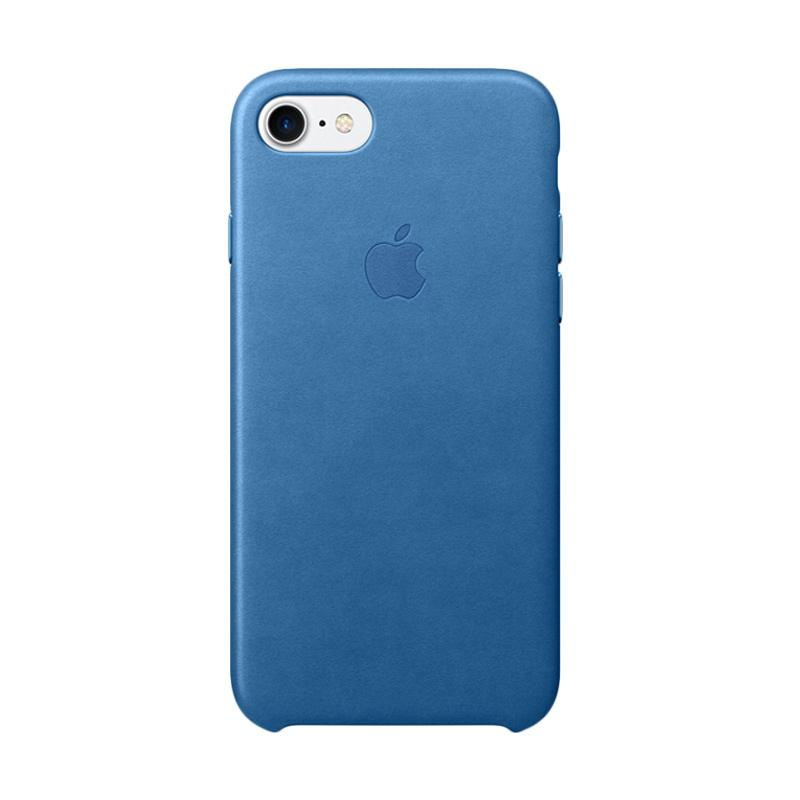 Apple Original Leather Casing for iPhone 7 -  Sea Blue
