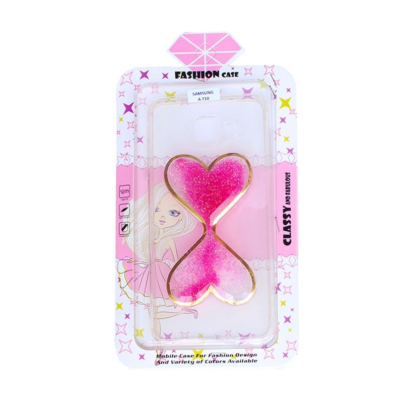 Fashion Case Gliter Love Casing for Samsung A710 - Pink