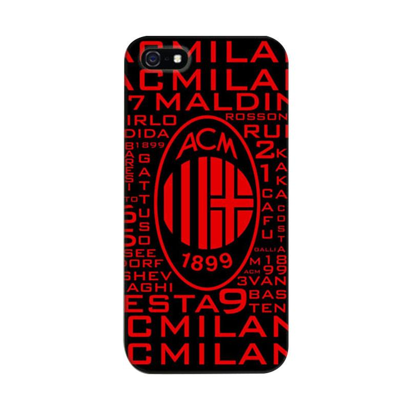 Indocustomcase AC Milan 3 Cover Hardcase Casing for Apple iPhone 5/5S/SE