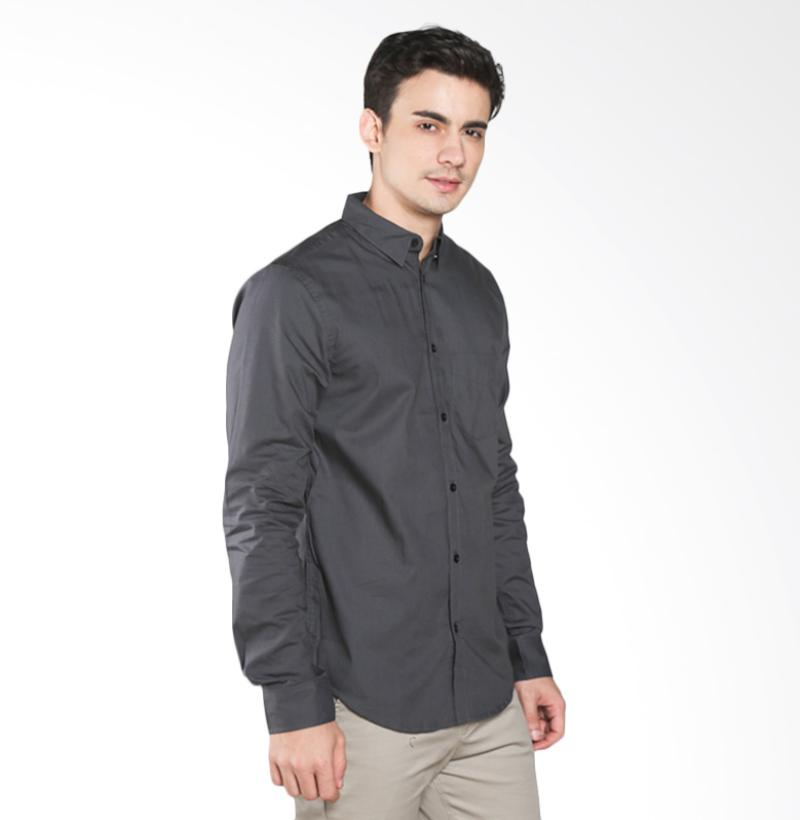A&D Fashion MS 1216-539C Mens Shirt Long Sleeves - Grey