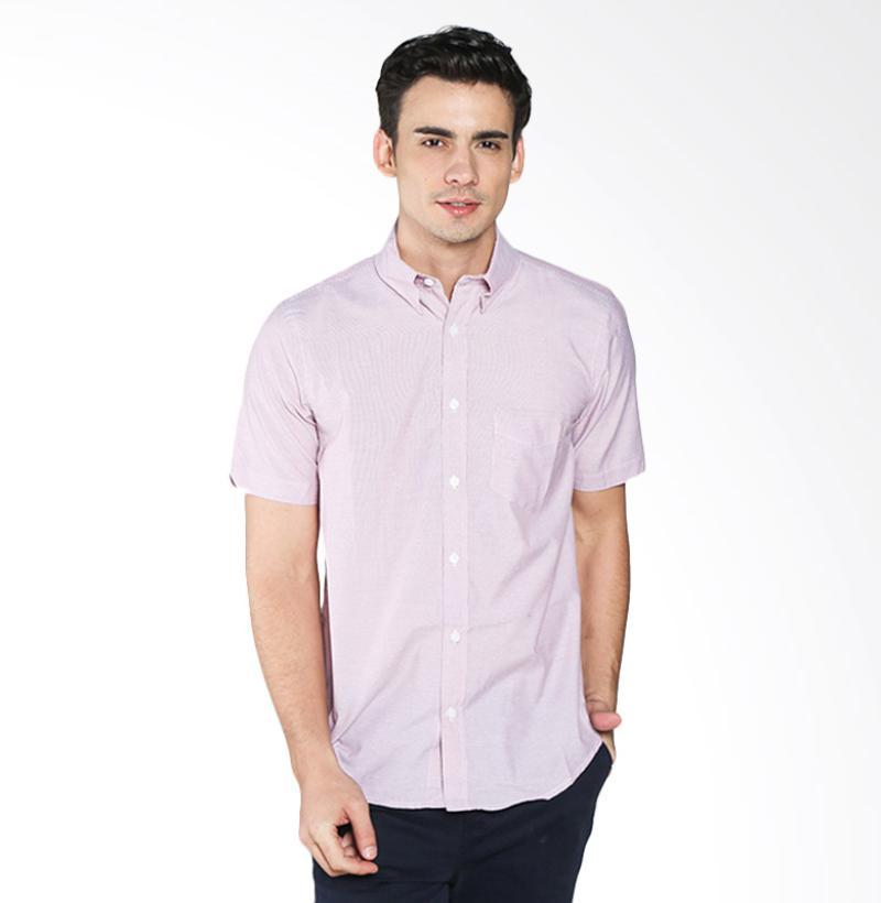 A&D MS 1516-531B Fashion Short Sleeve Mens Shirt - Red