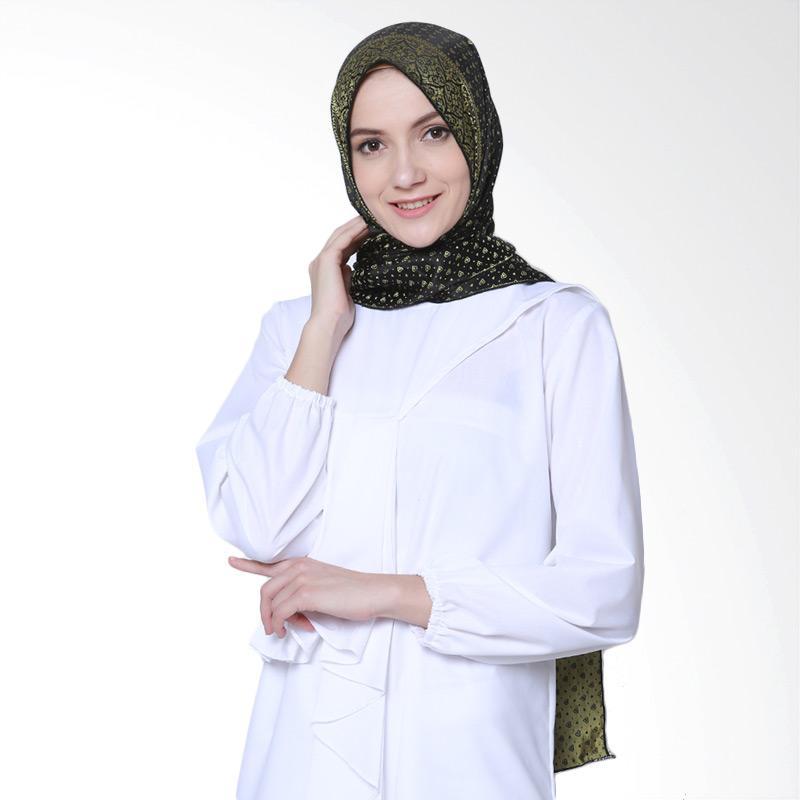 Delarosa Minakari Gold Design Hijab Pasmina - Black
