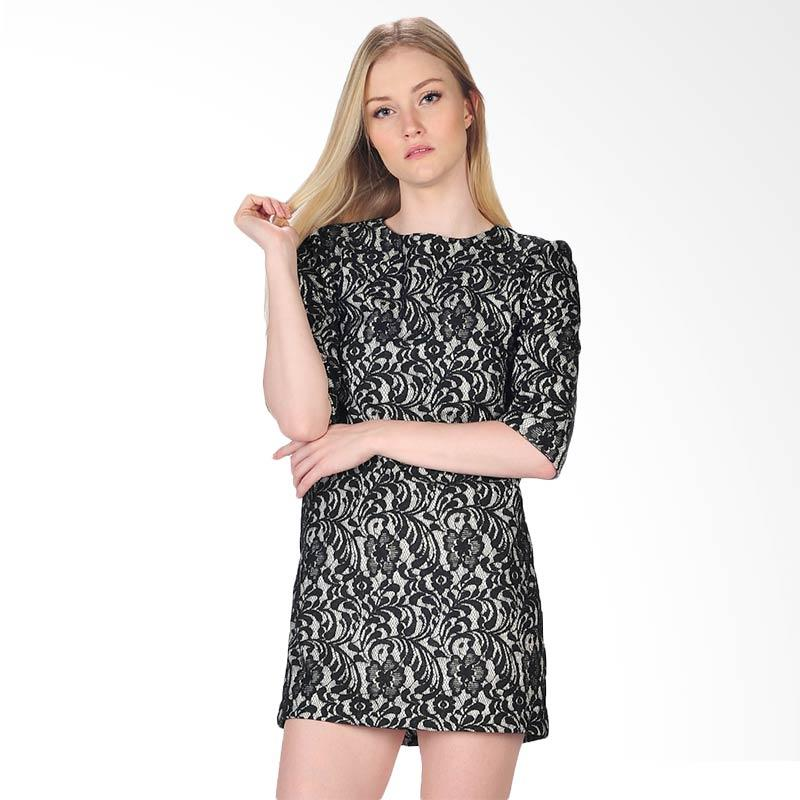 SJO's Brescia Women's Dress - Black White
