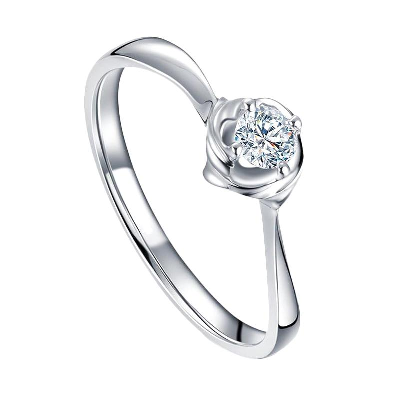 Tiaria Magnolia Diamond Berlian Emas Cincin Nikah [18K]