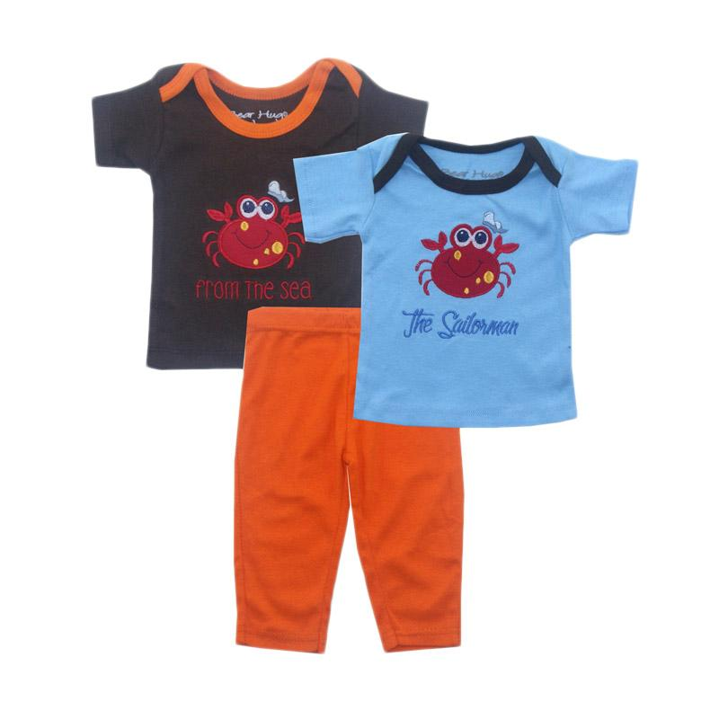 Bearhug for Baby Boy Crab The Sailorman Set Pakaian Anak [3 pcs]