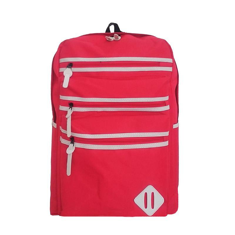 Bag & Stuff Oxford Tas Ransel Sekolah - Merah