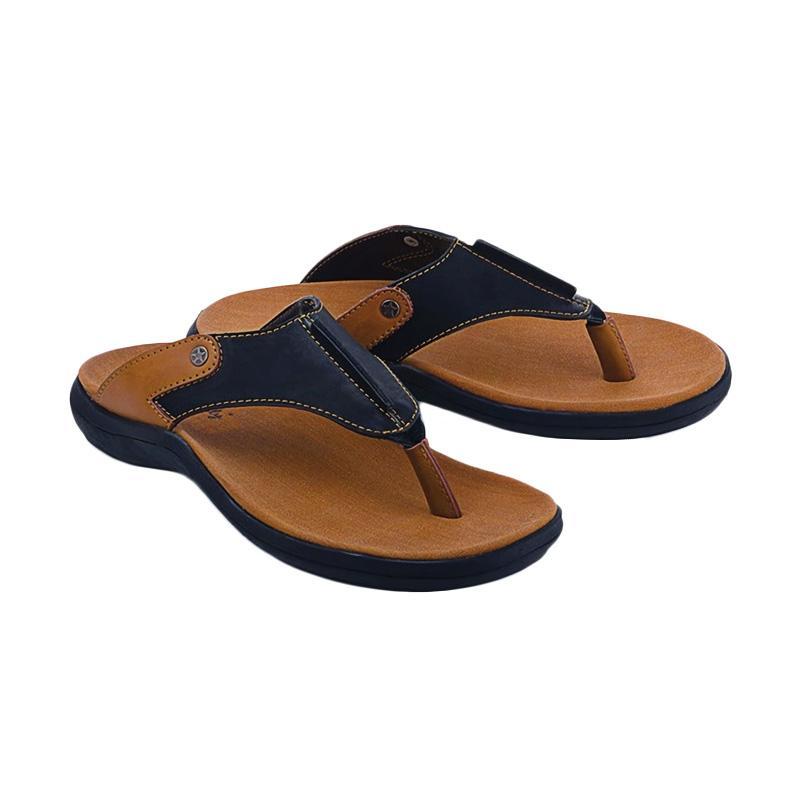 Blackkelly Marema LMG 164 Sandal Casual Pria - Coklat