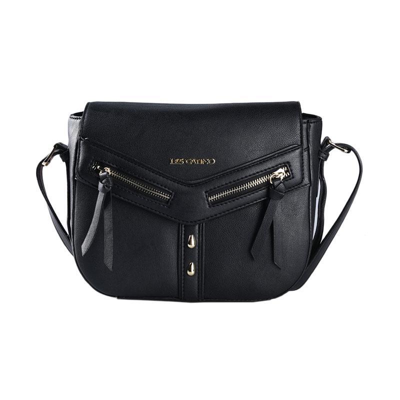 Les Catino Marciani Crossbody Sling Bag - Black