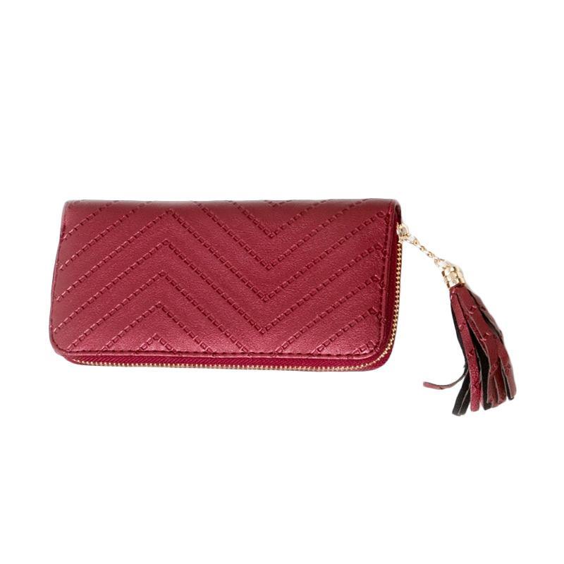 harga Paroparoshop Zigzag Wallet - Maroon Blibli.com