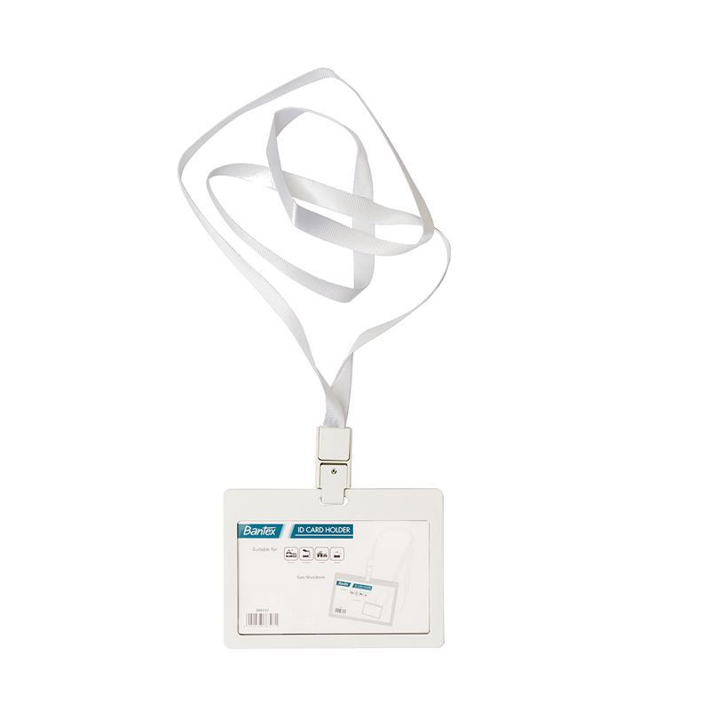 harga Bantex #8863 07 Larnyard Landscape ID Card Holder - White [2 PCS] Blibli.com