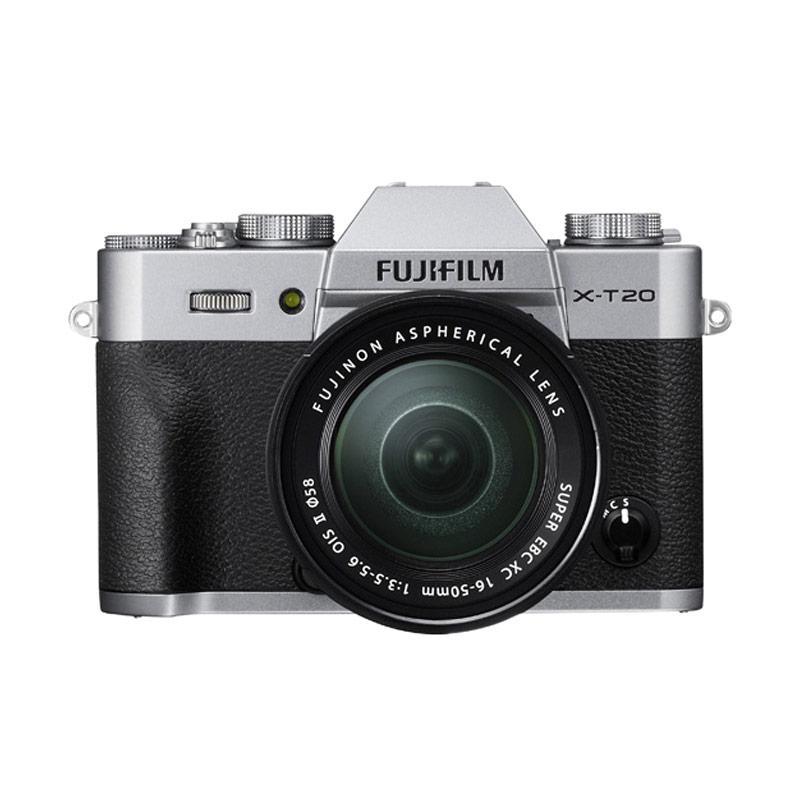 Fujifilm X-T20 KIT LENS XC 16-50 MM SILVER + FREE FUJIFILM INSTAX SHARE SP2  Kamera Mirrorless - Silver