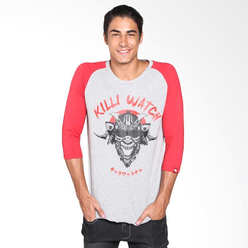 Killiwatch Samurai T-Shirt Pria - Red Grey