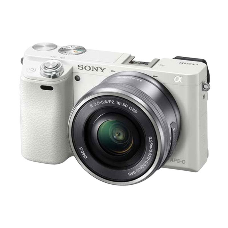 Sony Alpha 6000 Kit 16-50mm Kamera Mirrorless A6000 - Putih