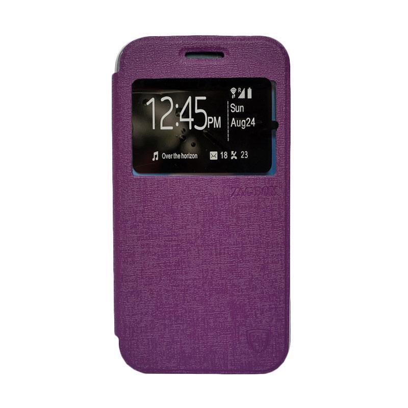ZAGBOX Flip Cover Casing for Samsung Galaxy S6 Edge - Ungu