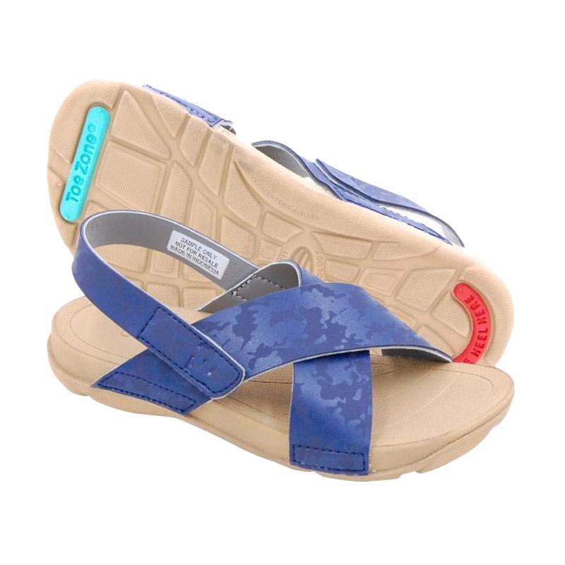 ToeZone Kids Gili Ch Dk Tan Sepatu Sandal Anak Perempuan - Navy