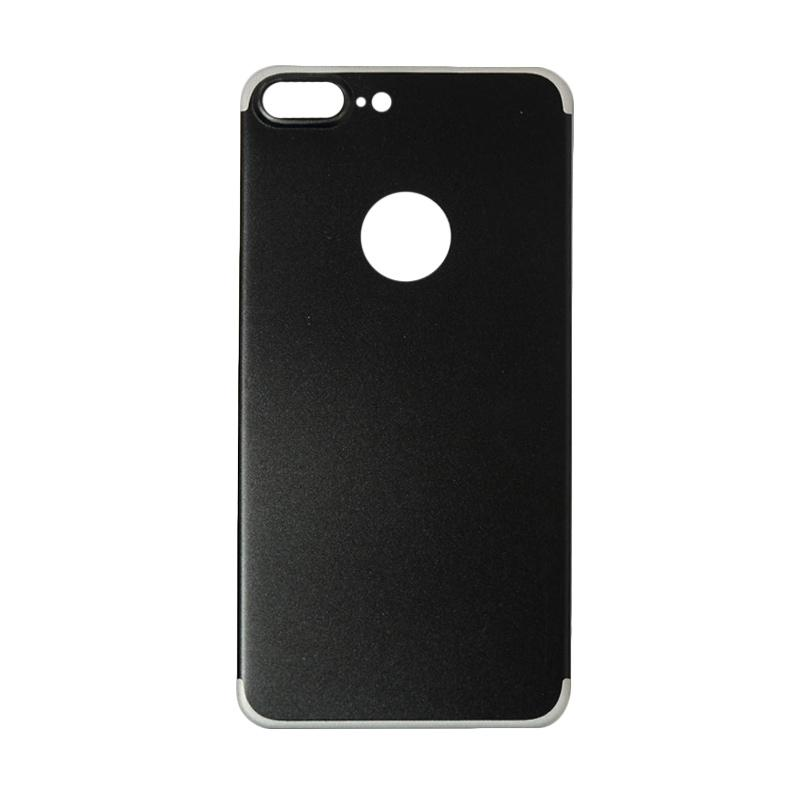 QCF Tempered Glass Aluminium Alloy Back Protector (Belakang Saja) for iPhone 7 Plus / Iphone 7Plus / Iphone 7+ 5.5 Inch Pelindung Belakang - Hitam
