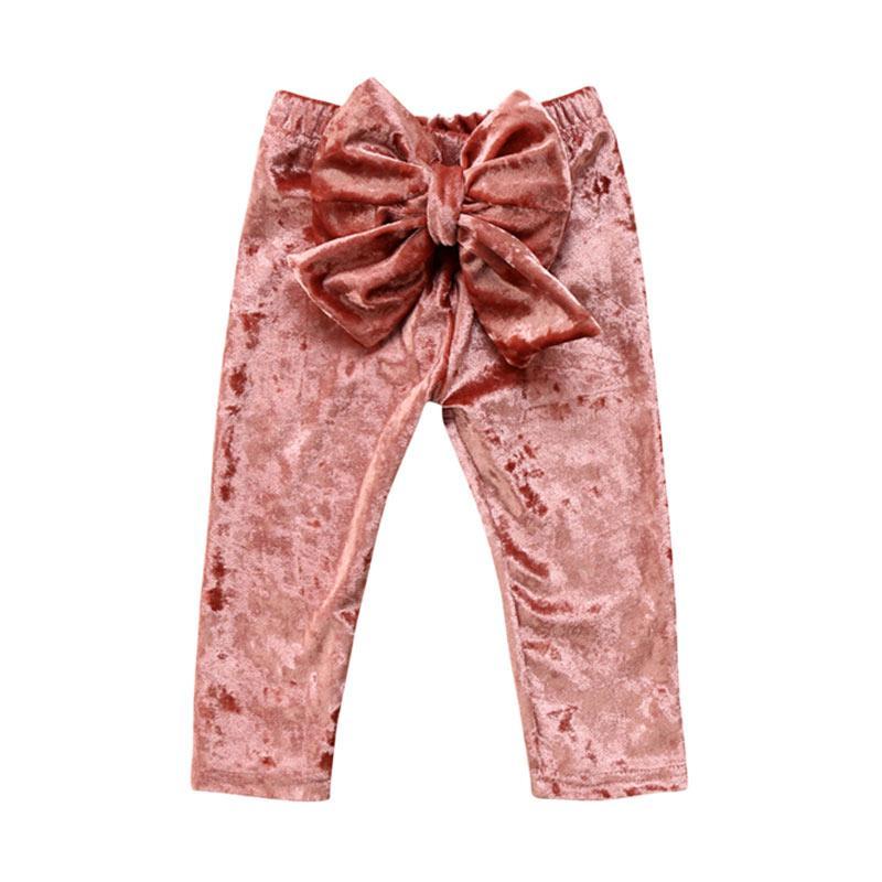 Abby Baby Ribbon Pants - Burgundy