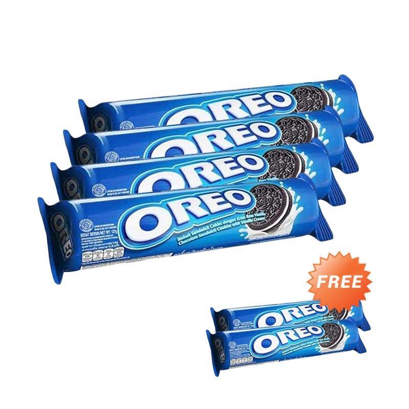 harga Buy 4 Get 2 - Oreo Vanilla Biskuit [137 g] Blibli.com