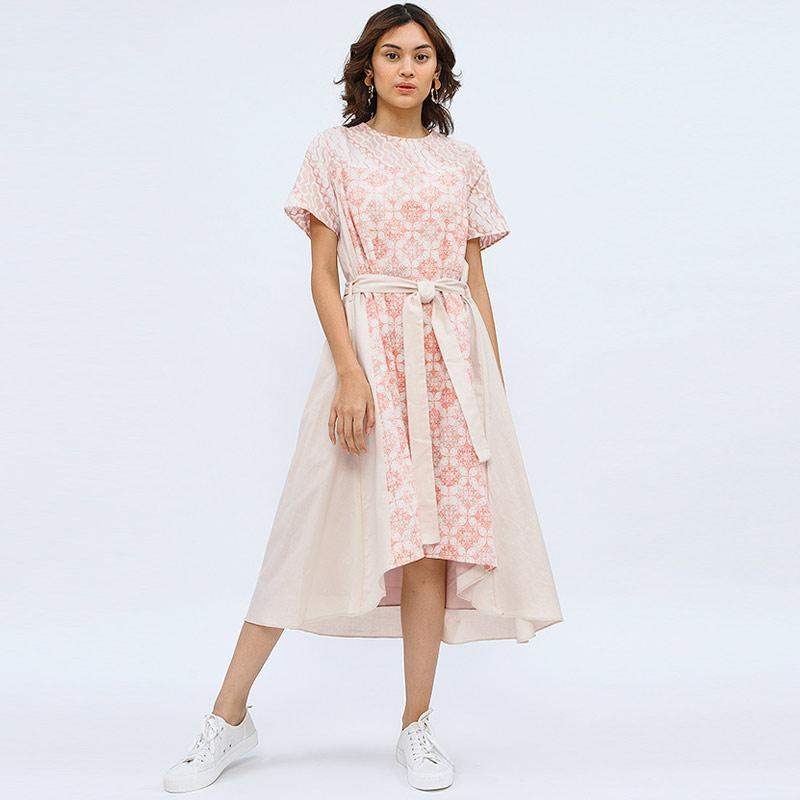 Cottonink Gema Dress Batik Wanita Pink