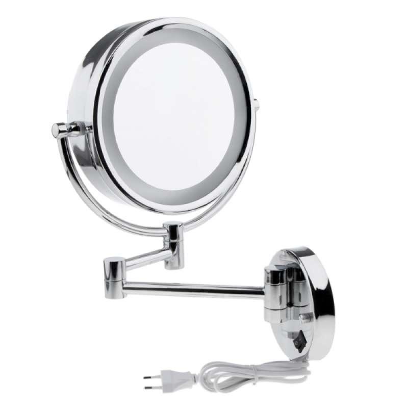 Jual Oem Led Light Wall Mount Mirror 3x Magnification Mirror Eu 2 Side Online Januari 2021 Blibli