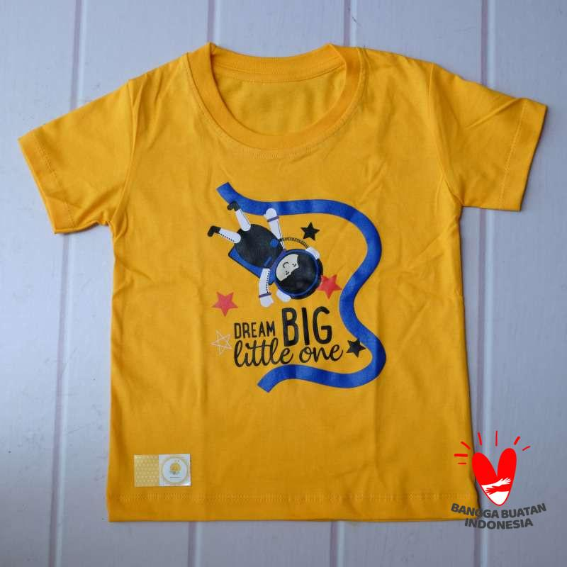 Jual Dream Big Little One Kaos Anak Warna Kuning Mustard Motif Astronot Kecil Online Desember 2020 Blibli