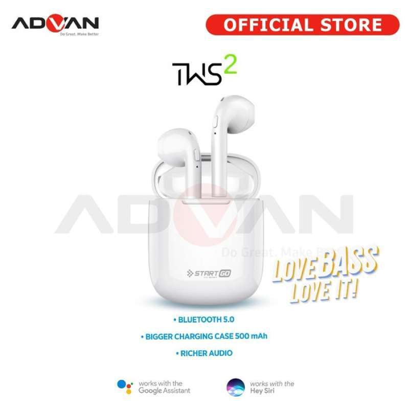 Advan Start Go TWS 2 Earbuds Earphone Bluetooth