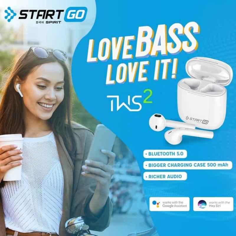 Advan Start Go TWS 2 Earbuds Earphone Bluetooth Garansi Resmi