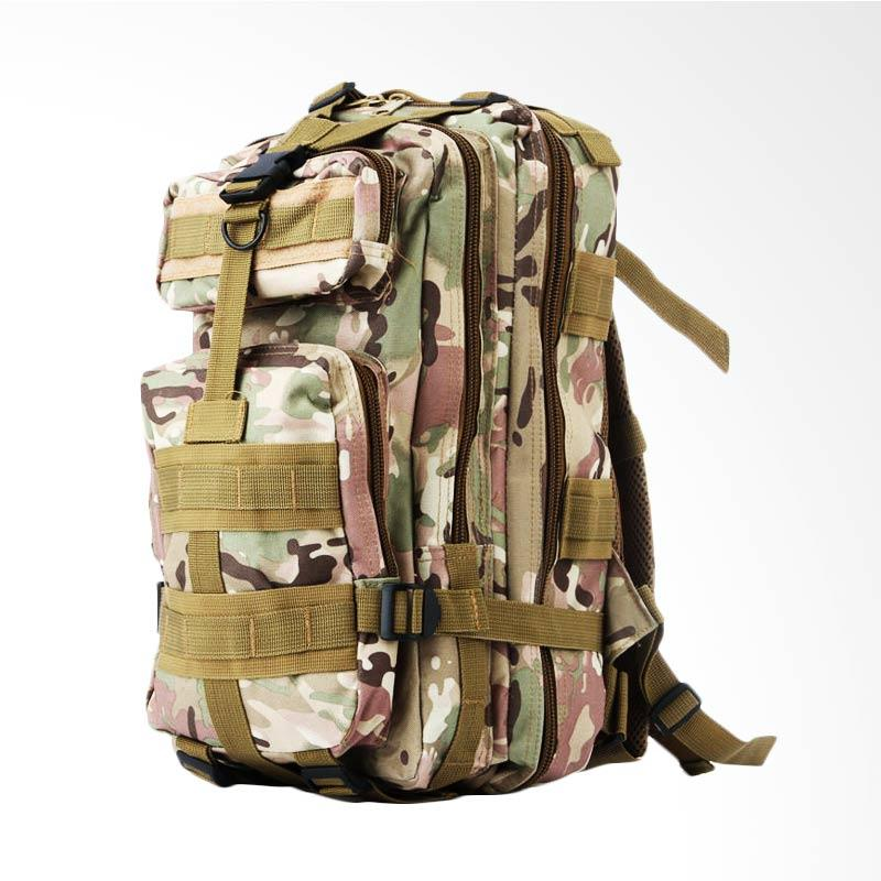 Army Canvas Military Tactical Backpack  Pria - Hijau