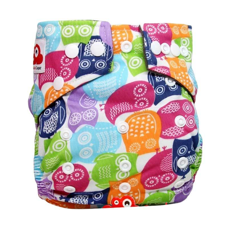 Clothcodile Charchoal - Bamboo Diaper + 2ins Owl