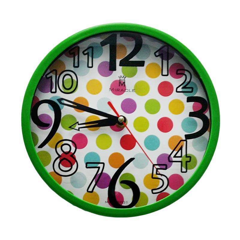 Miracle BP01 Dottie Permen Color Jam Dinding - Green
