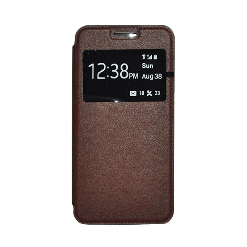 OEM Leather Book Cover Casing for Xiaomi Mi4i - Brown