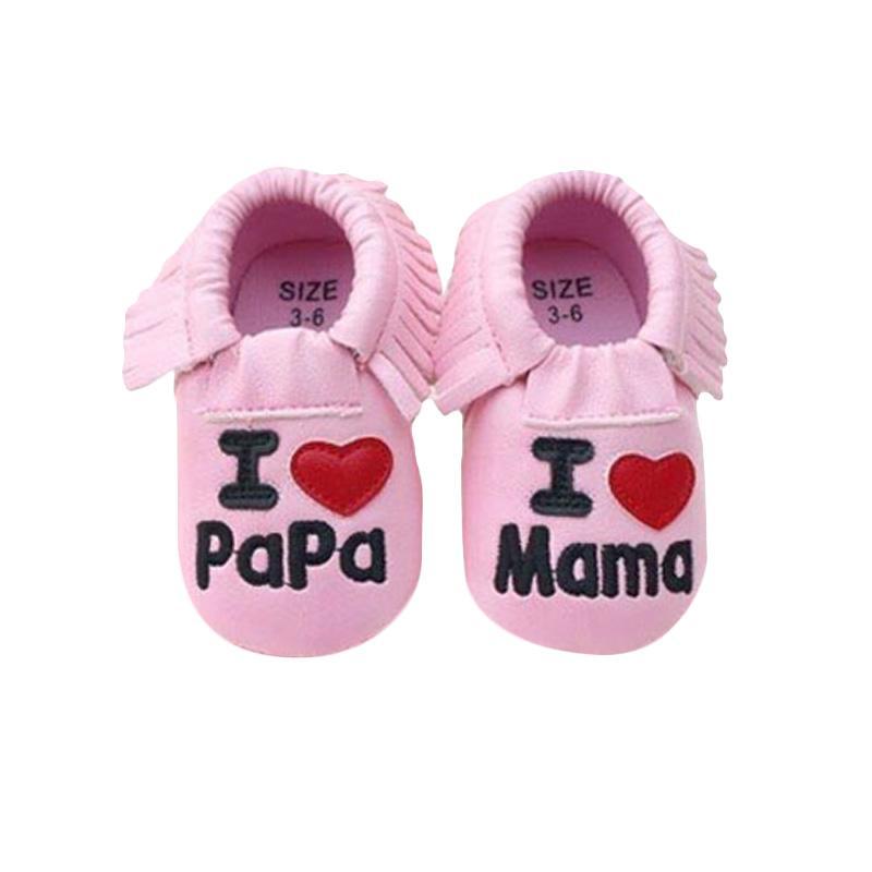 harga Prewalker I Love Mama Papa Sepatu Bayi - Pink Blibli.com