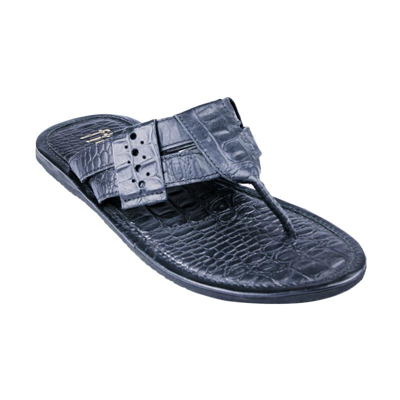 Ftale Footwear Chill Guy Mens Sandals - Croco Black
