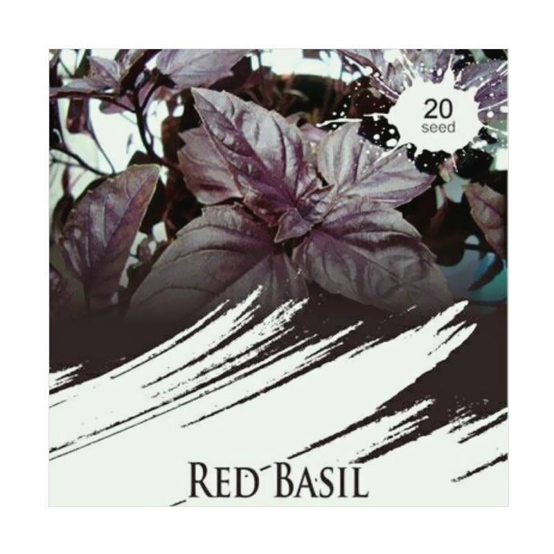 Maica Leaf Red Basil Kemangi Merah Benih Tanaman [20 Benih]