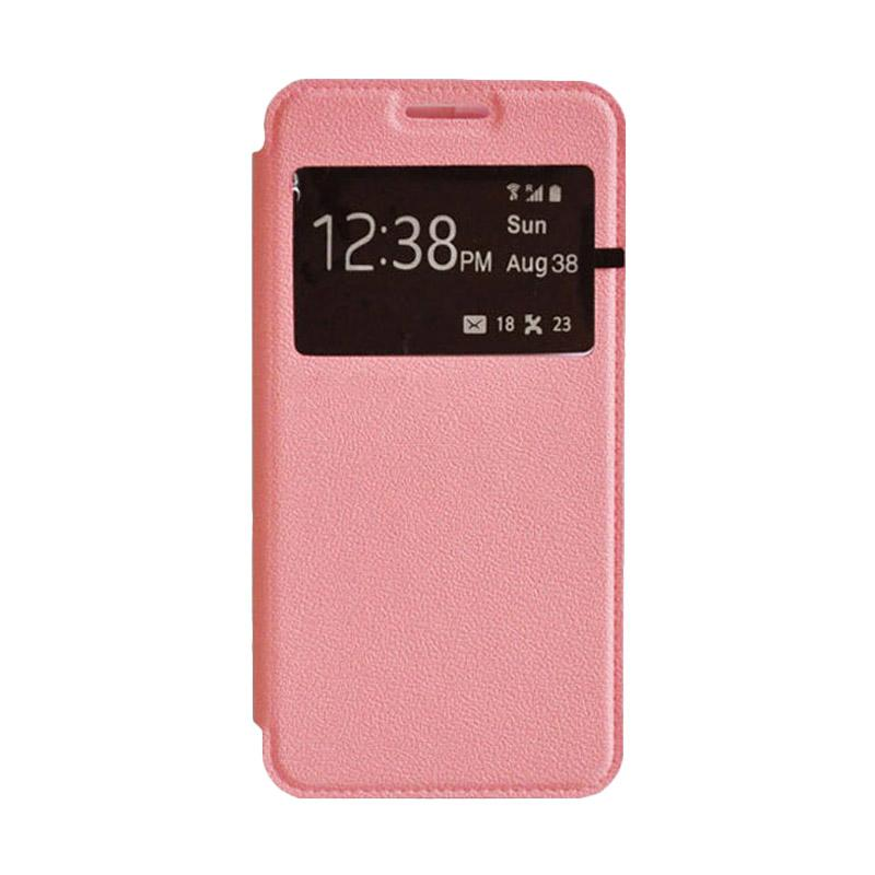 OEM Leather Book Cover Casing for Xiaomi Redmi - Pink