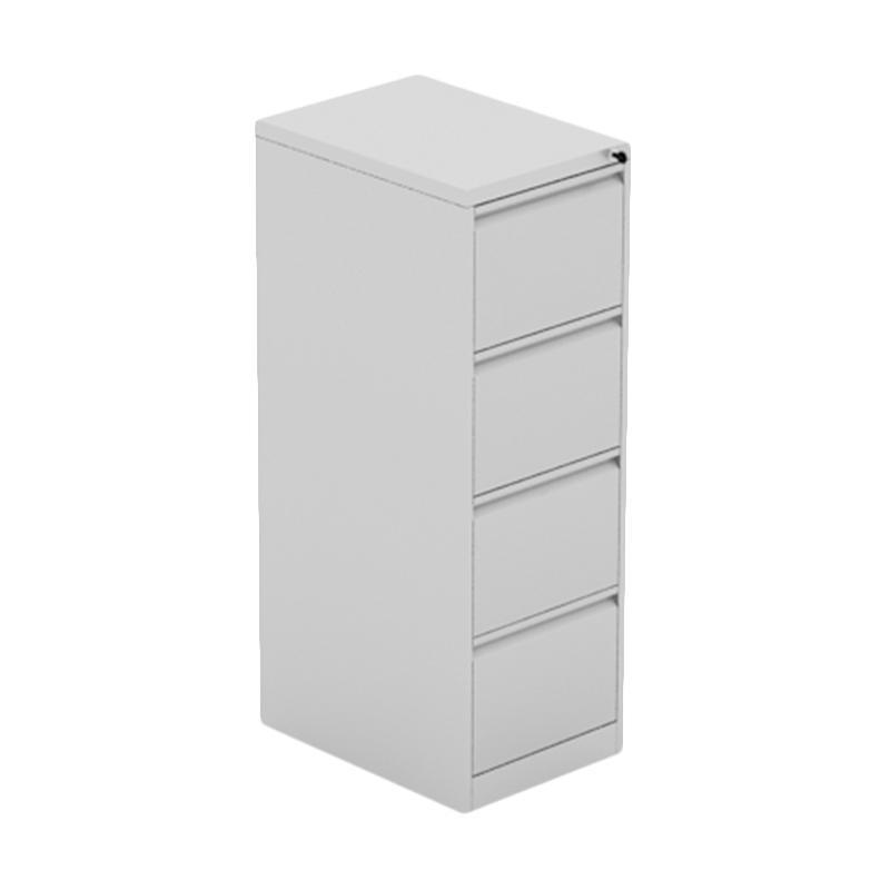 Prissilia Yi Shun Steel Cabinet 4 Drawers Grey