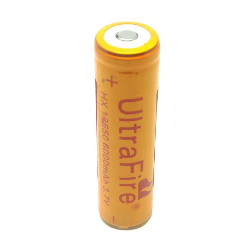 harga UltraFire 18650 Baterai Rechargable - Golden [6000 mAh/ 3.7V] Blibli.com