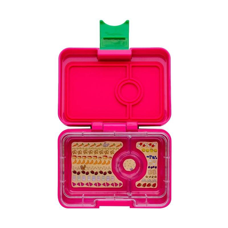 Yumbox Mini Snack 3-Comp Snack Box Kotak Makan - Cherie Pink