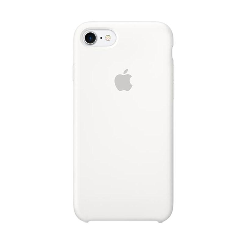 Apple Original Silicone Casing for iPhone 7 - White