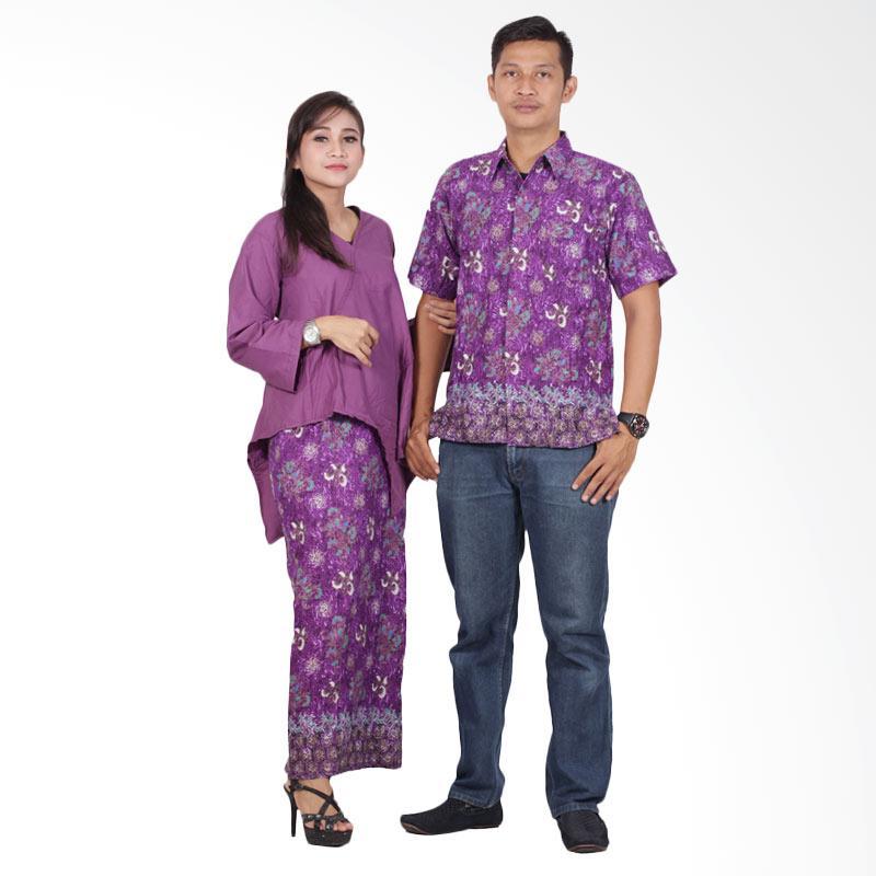 Batik Putri Ayu Solo srd201 Batik Couple Sarimbit Dress - Ungu