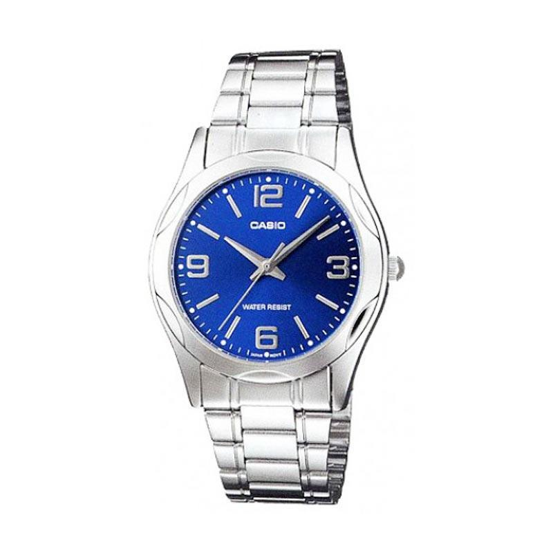 harga CASIO Man Analog MTP-1275D-2A2 Jam Tangan Pria - Silver Blue Blibli.com